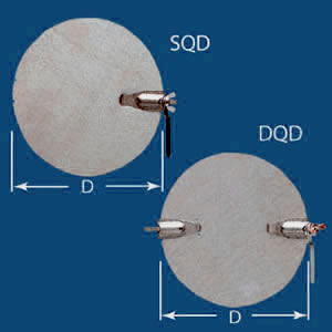 single double quadrant dampers